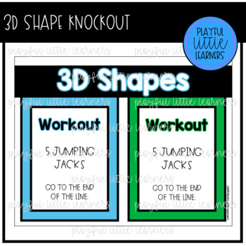 3D Shapes Knockout - Workout Review Game