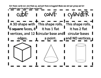 3D Shapes Match