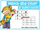 3D Shapes Match & Color
