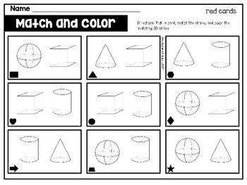 3D Shapes Match & Color