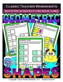 Match the 3D Shapes to Shape Names - Cut and Paste - Grades 3-4 (3rd-4th Grade)