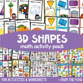 3D Shapes {Math Activities Pack #12} Math Centers