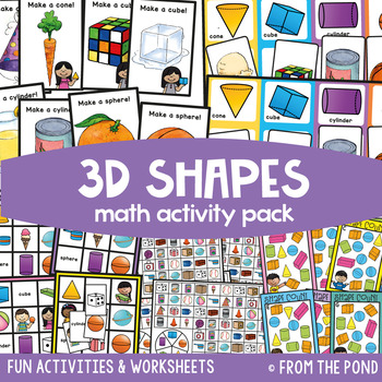 3D Shapes {Math Activities Pack #12} Math Centers