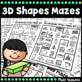 Printable 3D Shapes Mazes