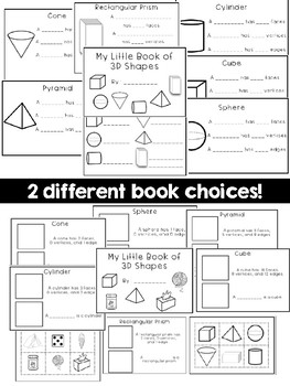 3D Shapes Mini-Books