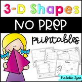 3D Shapes NO PREP Printables