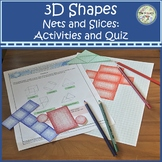 3D Shapes Nets and Slices Lesson, Hands-on Activities & Qu