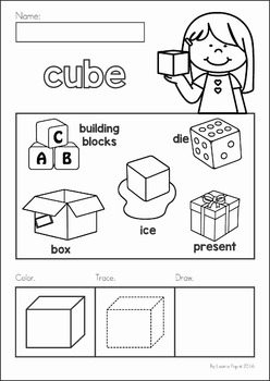 3D Shapes No Prep Worksheets by Lavinia Pop | Teachers Pay ...