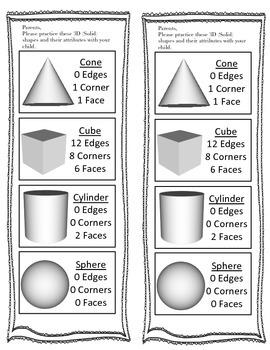 3D Shapes Note