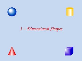 3D Shapes PPT