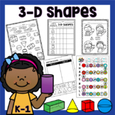 3D Shapes PRINT & GO Worksheets, Activities, and Posters