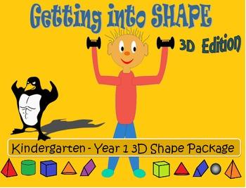 3D Shapes Package - Roll, Slide, Flat, Curved Worksheets, Online Games & more!