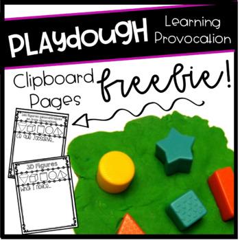 3D Shapes Playdough Exploration Writing Sheet (FREEBIE!)