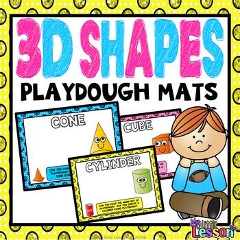3d Shapes Playdough Mats By My Little Lesson Teachers Pay Teachers