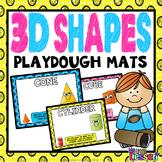 3D Shapes Playdough Mats