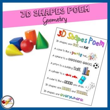 {FREE} 3D Shapes Poem