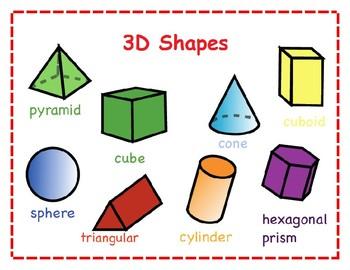 3D Shapes Poster