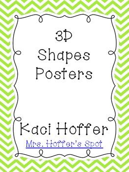 3D Shapes Poster {Chevron Print}