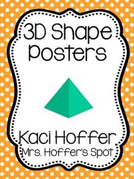 3D Shapes Poster {Little Polka Dots}