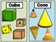 3D Shapes Poster and Flashcards
