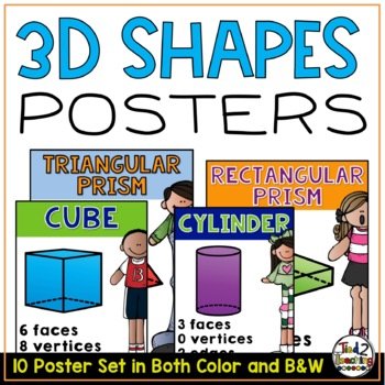 3D Shapes Posters - Anchor Charts
