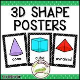 3D Shapes Posters | Bold Black Polka Dots