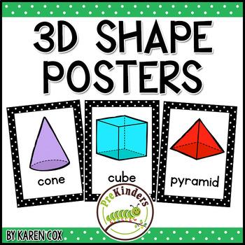 3D Shapes Posters   Bold Black Polka Dots