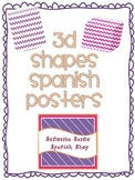 3D Shapes Posters Spanish