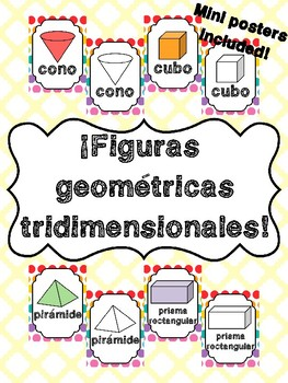 3D Shapes Posters in Spanish! Figuras tridimensional en español!