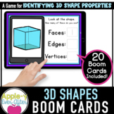 3D Shapes Properties | Boom Cards™ - Distance Learning