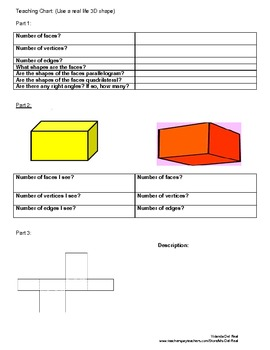 3D Shapes Properties Mini Lesson (Worksheets Included)