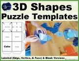 3D Shapes Puzzle Templates