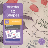 3D Shapes Puzzle for Nets and Properties