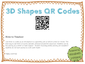 3D Shapes QR Codes