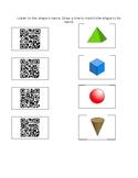 3D Shapes QR Codes Listen and Match