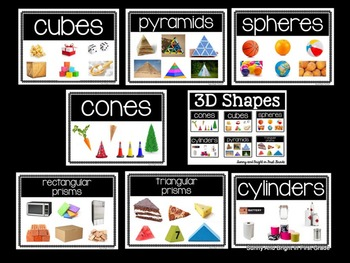 3D Shapes- Real World Examples