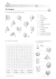 3D Shapes: Recognising 3D Shapes