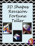 3D Shapes Revision - Fortune Teller, Cootie Catcher