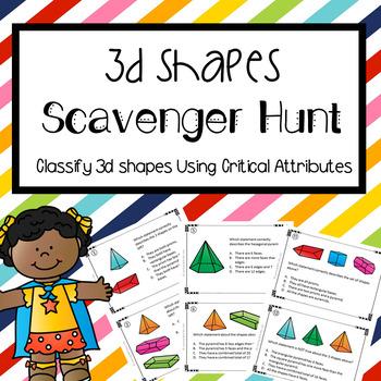 3D Shapes Scavenger Hunt