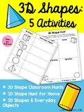3D Shapes - Scavenger Hunts & Everyday Objects (Ontario)