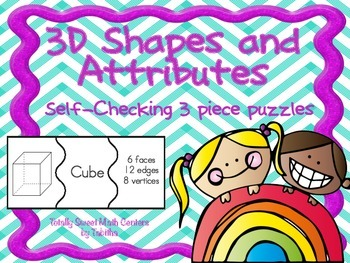 3D Shapes Self-Checking Puzzles