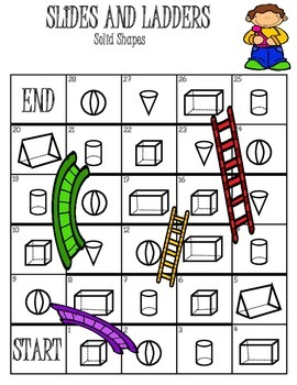 3D Shapes Slides and Ladders