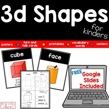 Geometry 3D Shapes:  Solid Shapes For Kinders