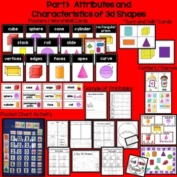 3D Geometry Shapes:  Solid Shapes For Kinders