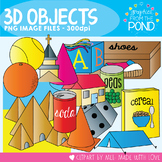 3D Shapes / Solid Shapes Object Clipart