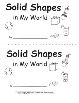 3D Shapes Solid Shapes: Shapes in Environment: Printable Book