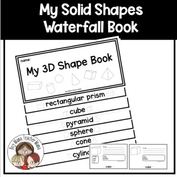 3D Shapes (Solid Shapes) Waterfall Book