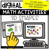 3D Shapes Solids Distance Learning Digital Math for Google