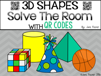 3D Shapes Solve The Room with QR codes.