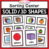 3D Shapes | Solid Shapes Sorting Activity